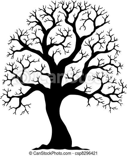 arbre 2, silhouette, formé - csp8296421