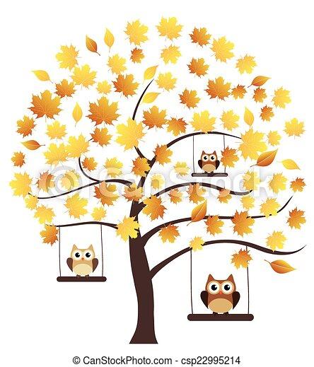 arbre, automne - csp22995214