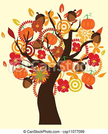 arbre, automne - csp11077099
