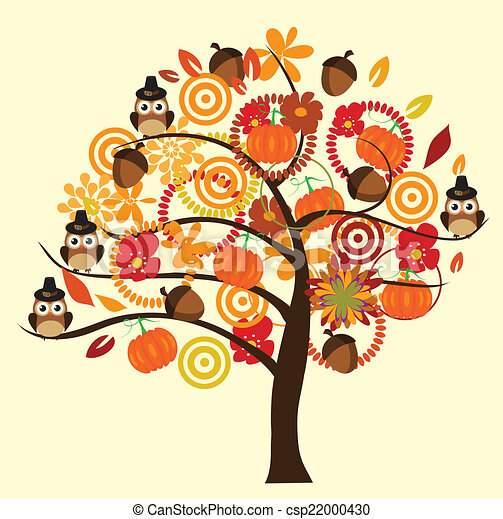 arbre, automne - csp22000430