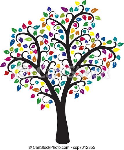 arbre, coloré - csp7012355