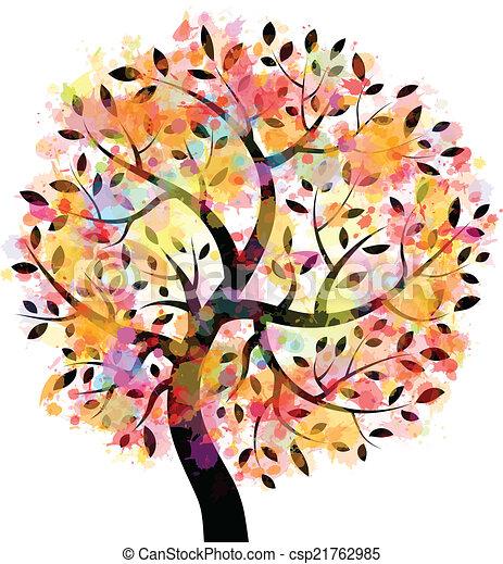 arbre, coloré - csp21762985
