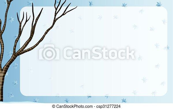 arbre, conception, frontière, branche - csp31277224