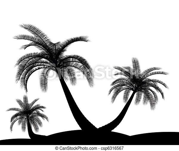 arbre environnement paume noir blanc vacances illustrations de stock rechercher des. Black Bedroom Furniture Sets. Home Design Ideas