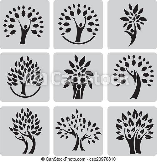 arbre, famille - csp20970810