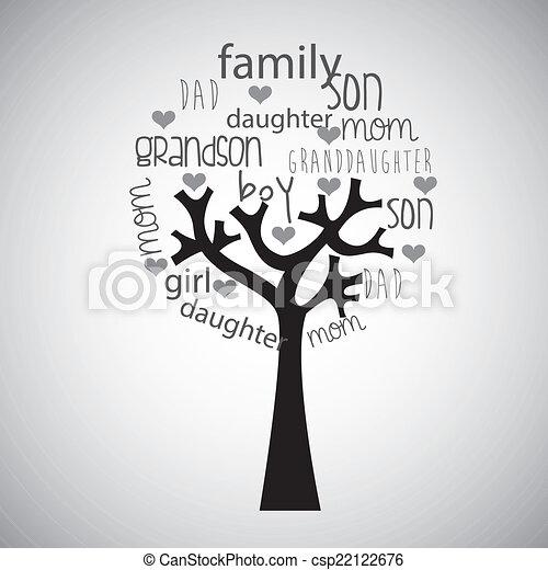 arbre, famille - csp22122676