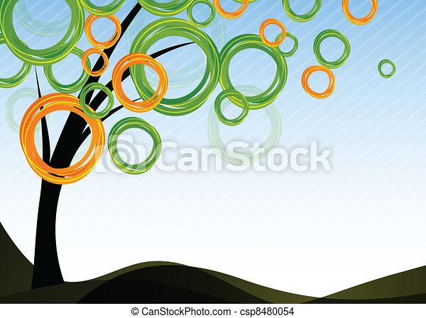 arbre, fond - csp8480054
