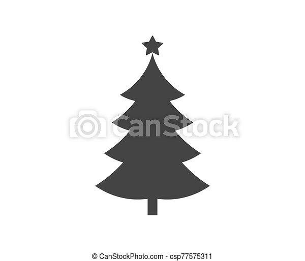 arbre, icon., forme, étoile, noël - csp77575311