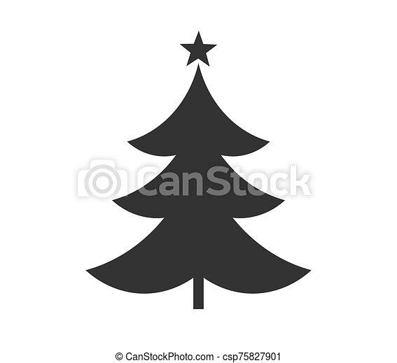 arbre, icon., noël, forme étoile - csp75827901