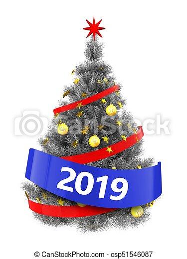 Image De Noel 2019.Arbre Noël 2019 Signe Argent 3d