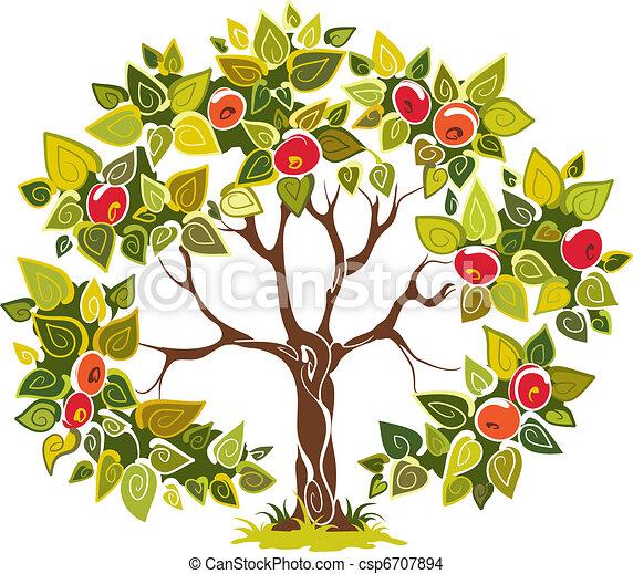 arbre, pomme, fructueux - csp6707894