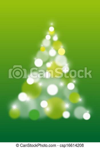 arbre, résumé, vecteur, noël - csp16614208