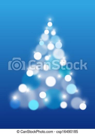 arbre, résumé, vecteur, noël - csp16490185