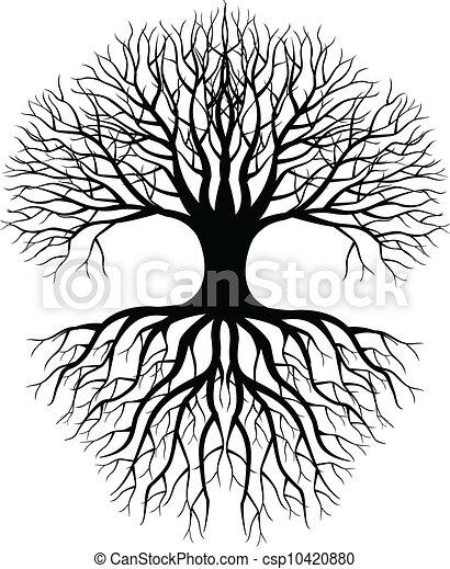arbre, silhouette - csp10420880