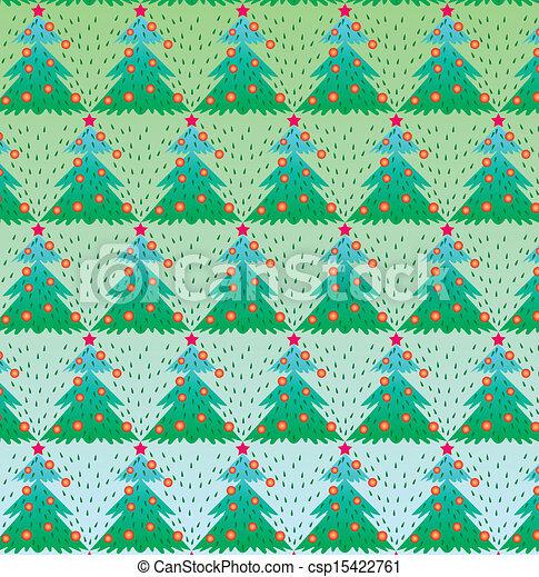 arbre, vecteur, noël, illustration - csp15422761