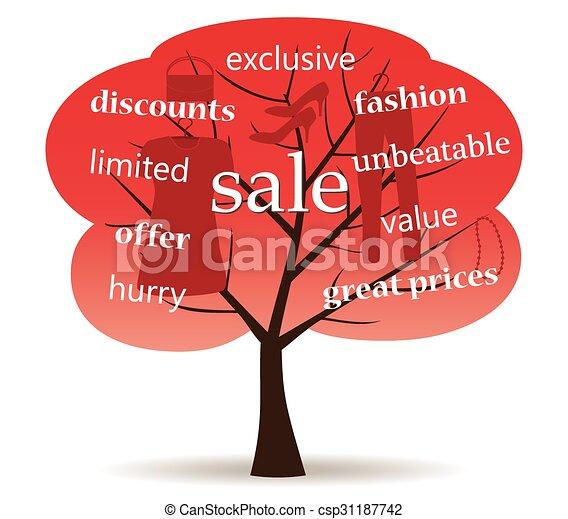 arbre, vente - csp31187742