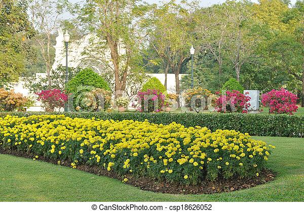 Arbustos flores vario jard n p blico arbustos garden - Arbustos perennes con flor ...