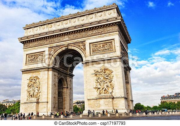 Arc de Triomphe in Paris. France - csp17197793