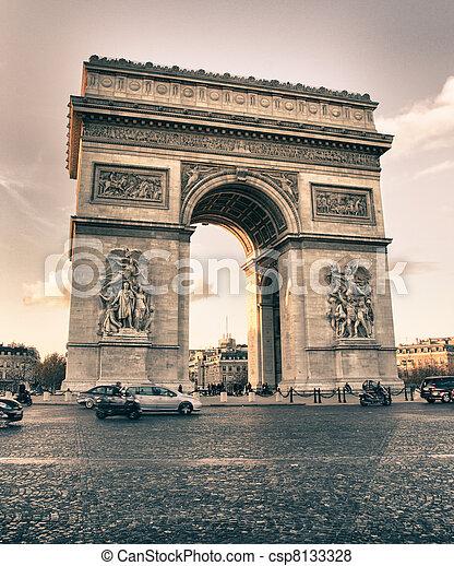 Arc de Triomphe in Winter - csp8133328