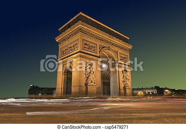 Arc de Triomphe, Paris France - csp5479271