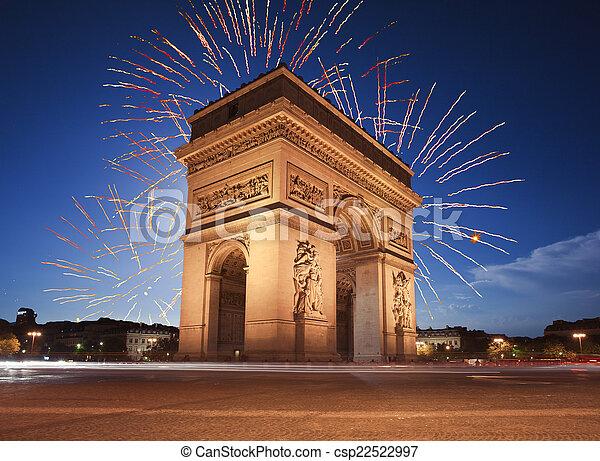 Arc de Triomphe, Paris - csp22522997