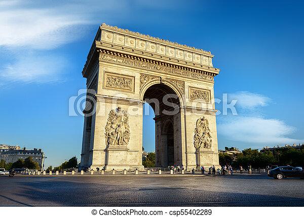 Arc de Triomphe - csp55402289
