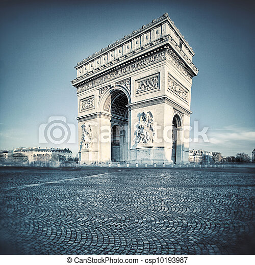 Arc de Triomphe with special photographic processing - csp10193987