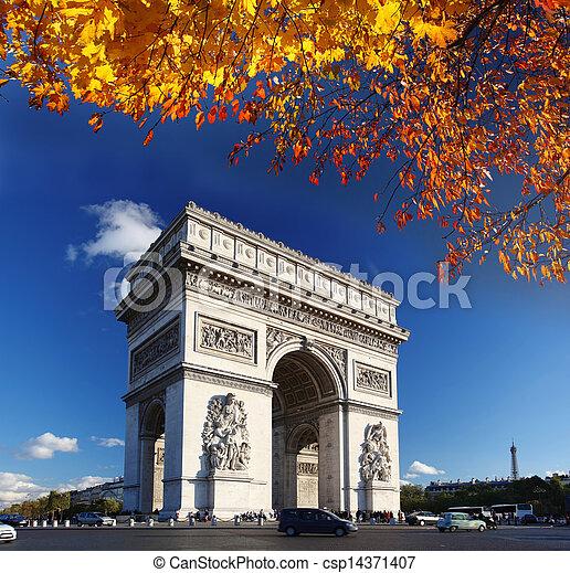 Arc de Triumph in Paris, France - csp14371407