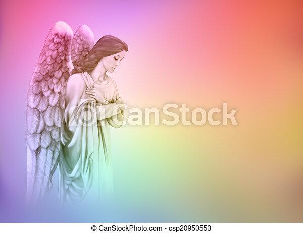 Arc En Ciel Ange Fond
