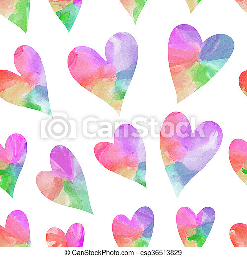 arc-en-ciel, cœurs, seamless, modèle - csp36513829