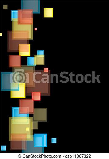arc-en-ciel, carrée, présentation - csp11067322