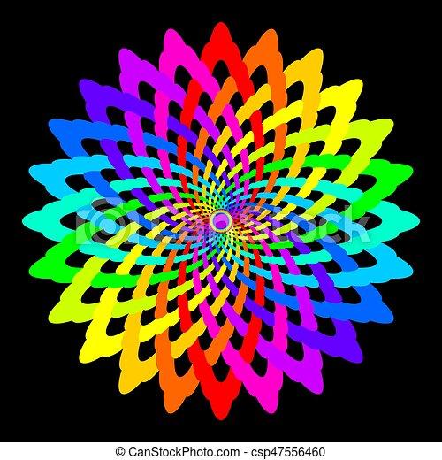 arc en ciel fleur color color fleur p tale r sum sot rique isol mandala. Black Bedroom Furniture Sets. Home Design Ideas
