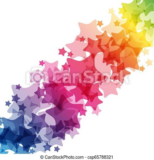 arc-en-ciel, frontière, carnaval, décoration, clair, vecteur, étoiles, texture, card. - csp65788321