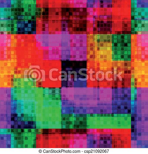 Arc En Ciel Modèle Offre Seamless Brouillé Petit Pixel