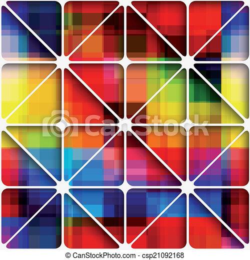 Arc En Ciel Modèle Seamless Fond Filet Pixel
