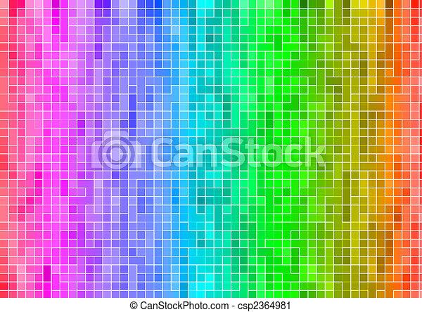 Arc En Ciel Multicolore Papier Peint Résumé Pixel