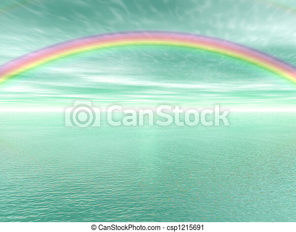 arc-en-ciel, paysage - csp1215691