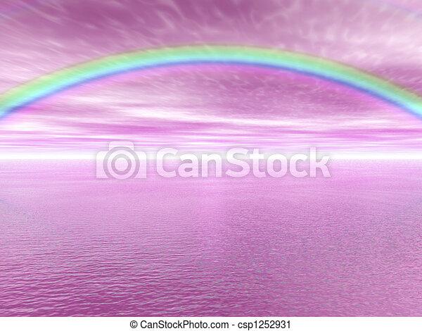 arc-en-ciel, paysage - csp1252931
