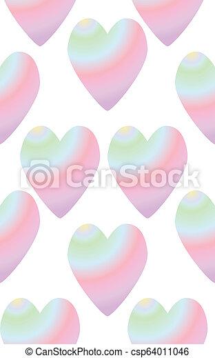 arc-en-ciel, seamless, coloré, coeur - csp64011046