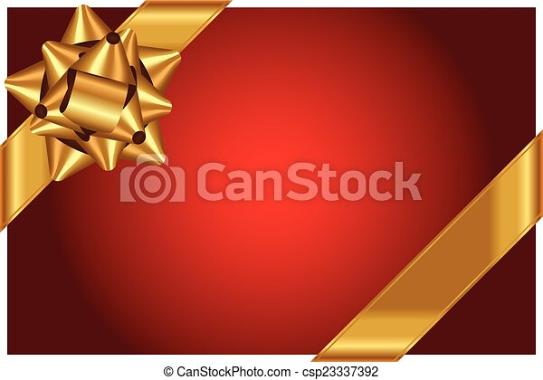 arc or, vecteur, fond, brillant, rouges - csp23337392