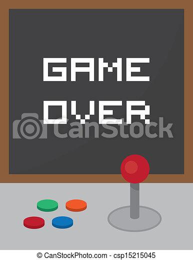 Arcade Joystick Game Over