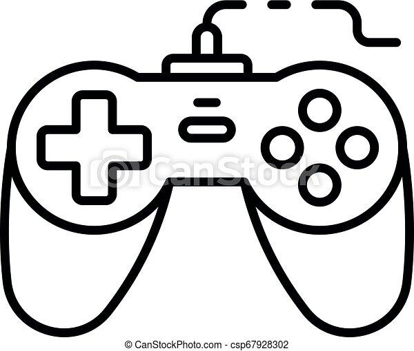 Arcade joystick icon, outline style