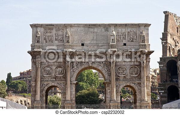 Arch at Roman Forum - csp2232002