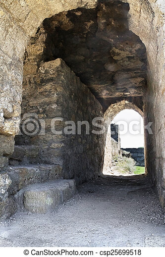 Arch in the old castle in Belgorod-Dniester - csp25699518