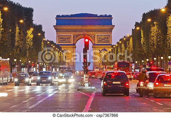 Arch of Triumph, Paris, France - csp7367866