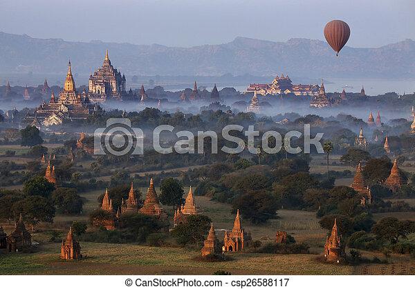 Archaeological Zone - Bagan - Myanmar - csp26588117