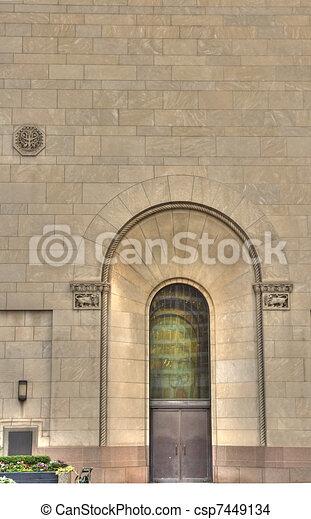 arched doorway - csp7449134
