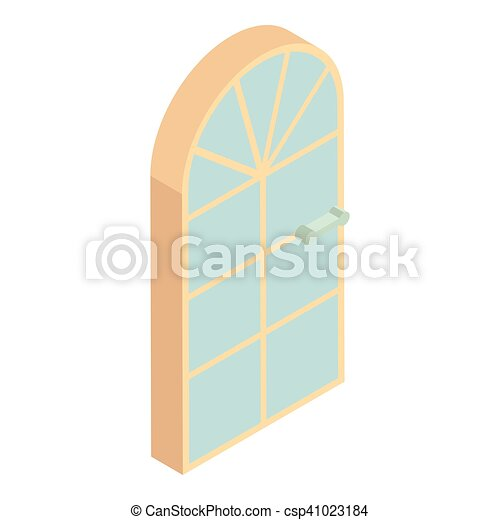 Arched Front Door Icon Cartoon Style Arched Front Door Vector