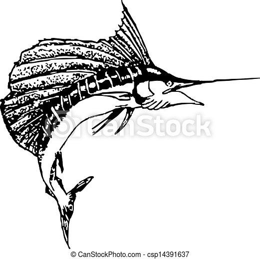Arched Sail Fish - csp14391637