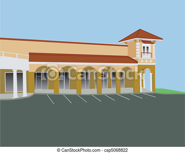 arched strip mall - csp5068822